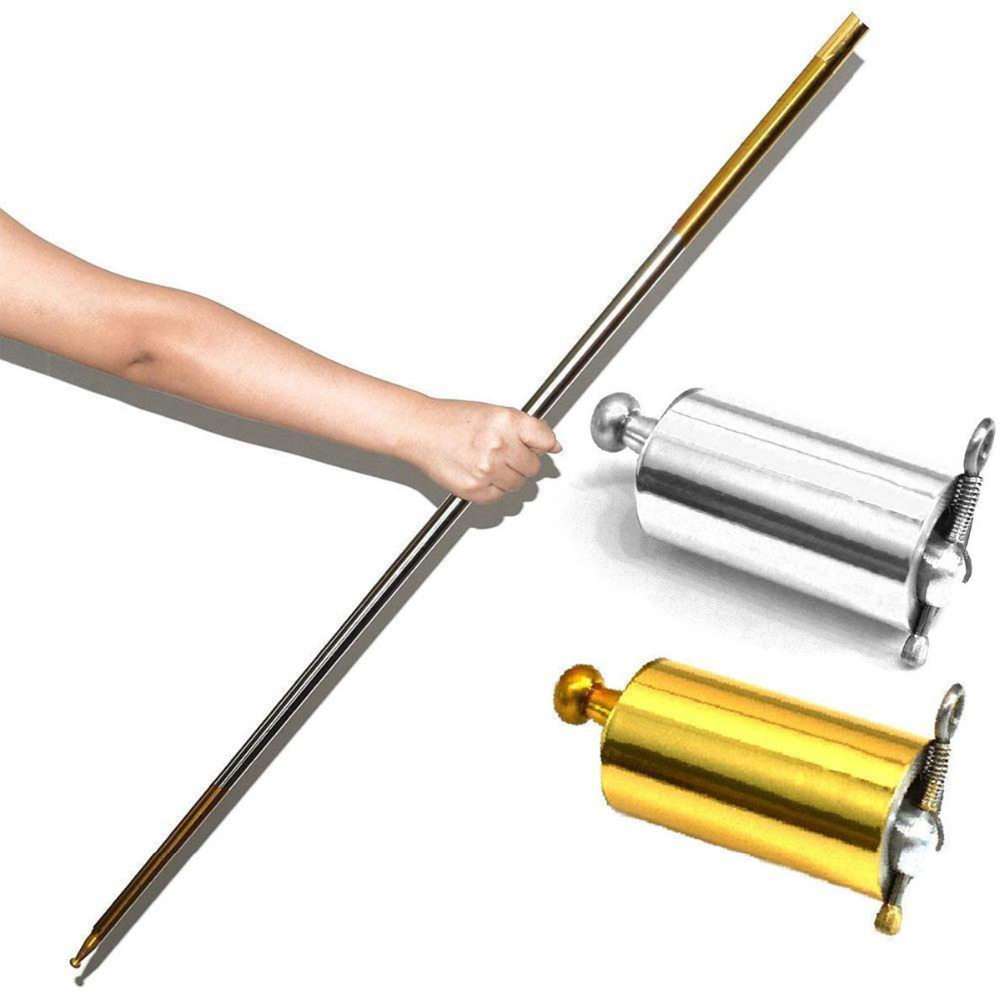 Martial-Arts Pocket Bo Staff Metal Stainless-Steel Portable Silve Outdoor-Sport High-Quality