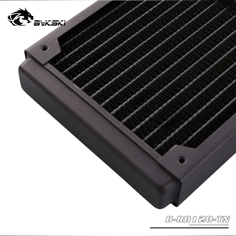 Bykski 28mm Thick 120mm Length Copper Single Row Radiator Computer Water Discharge Liquid Heat Sink for 12cm Fans B RD120 TN in Fluid DIY Cooling from Computer Office