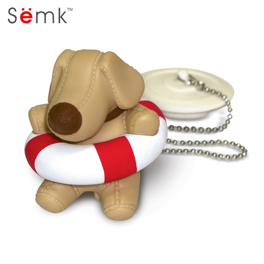 Semk Bath Float Toys Dog Doll Cute Bath Plug Animals Swimming Water Toys For Baby Bath