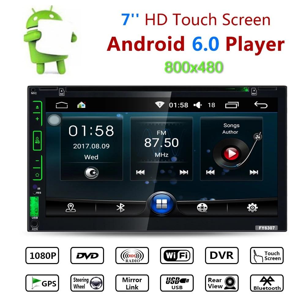 "7/"" 2DIN Android 6.0 Car FM BT V4.0 Radio GPS Navigation Audio Stereo MP5 Player"