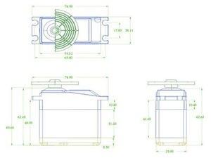 Image 5 - K power MM3000 engranaje de Metal de alta torsión, Servo resistente al agua a escala 0,18, coche de control remoto/Robot RC, 35KG/1/5 s