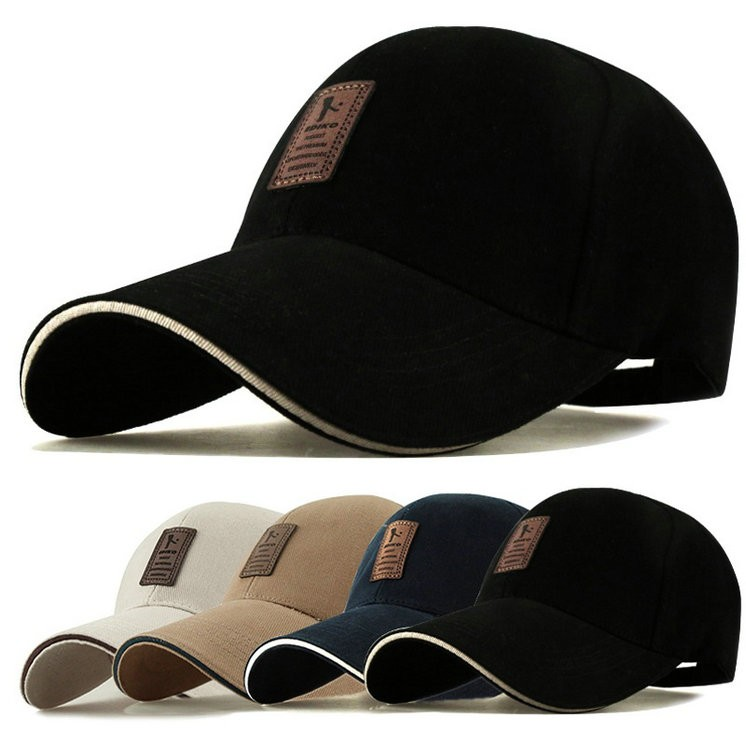 Men s Baseball Hat Adjustable Cap Casual Hats Solid Color Fashion ... e754cec8675