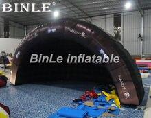 16 футовый популярный черный надувной купол air igloo luna для