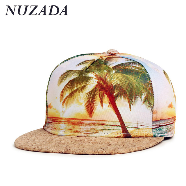 Brands NUZADA Snapback Sports Hats Cap Men Women Baseball 3D printing Solid wood Couples style Caps Hip Hop yxh-001