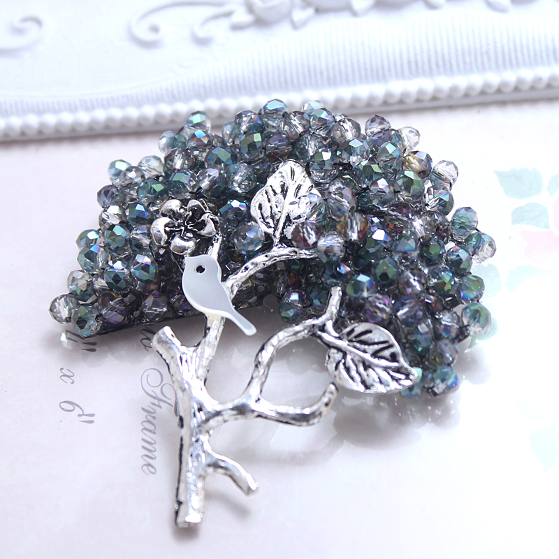 Women Fruit Tree Brooches Safety Pin Brooch Jewelry Fashion Vintage Broches For Ladies Christmas Gifts 2Colors XZ018