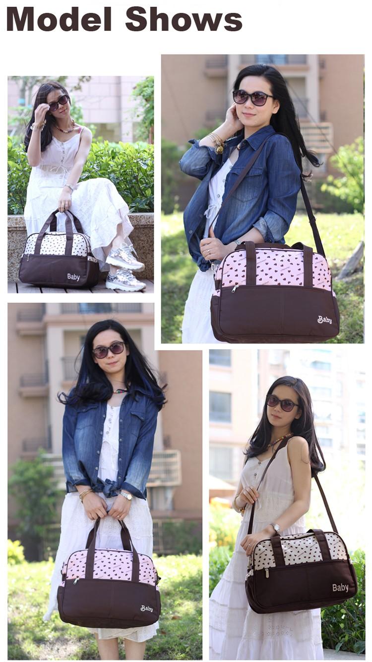 insular multifunctional diaper bags maternity mummy handbag baby care stroller bag High capacity mother Messenger nappy bags 5