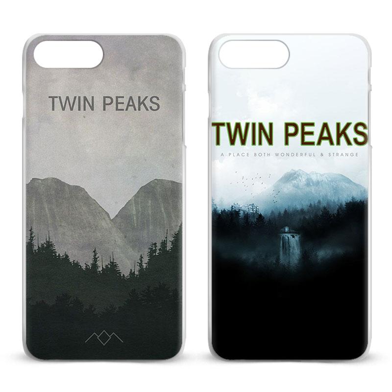 Twin Peaks For Apple iPhone X 8Plus 8 7Plus 7 6sPlus 6s 6Plus 6 5 5S SE 4S 4 Fashion Coque Mobile Phone Case Cover bags