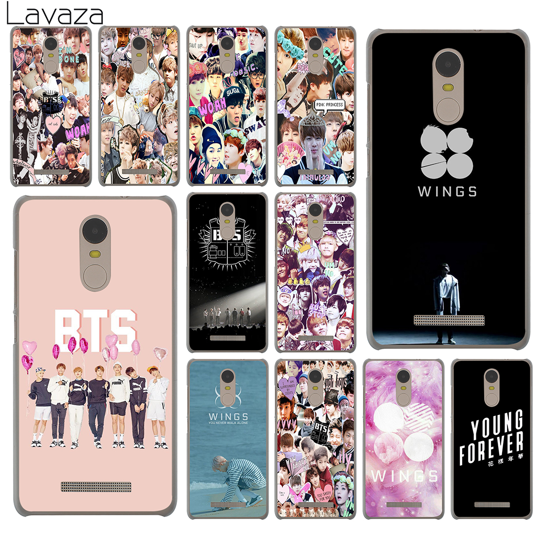 Webbedepp Bts Bangtan Young Forever Phone Case For Xiaomi Redmi 4x Note 5 Pro Hq Matte Lavaza Boys Collage Wings Hard 4a S2 6