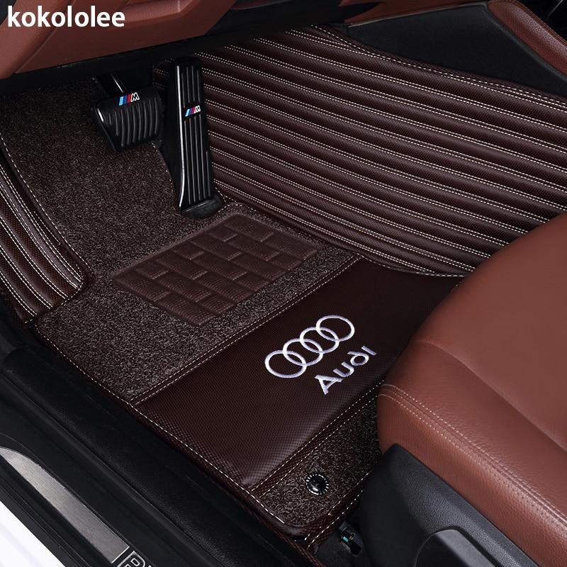Kokololee Custom fit tappetini auto per Audi A1 A3 A6 A7 A8 Q3 Q5 Q7 TT 5D heavy duty all weather moquette del pavimento liner