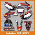 Customized Team Graphics & Backgrounds Decals 3M Stickers For CRF CRF250R CRF250 2006 2007 2008 2009