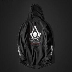 Autumn Winter Hoodies Men Long Sleeve Sweatshirts Black Cloak Shawl Outwear Streetwear Style Hooded Men's Plus 2