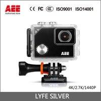 AEE LYFE SREBRNY Action Camera 4 K 1440 P kamera HD Kamera Sportowa 1.8LCD 1050 mAh WiFi i Bluetooth 1050 mAh Mini Kamery 40 m Wodoodporny