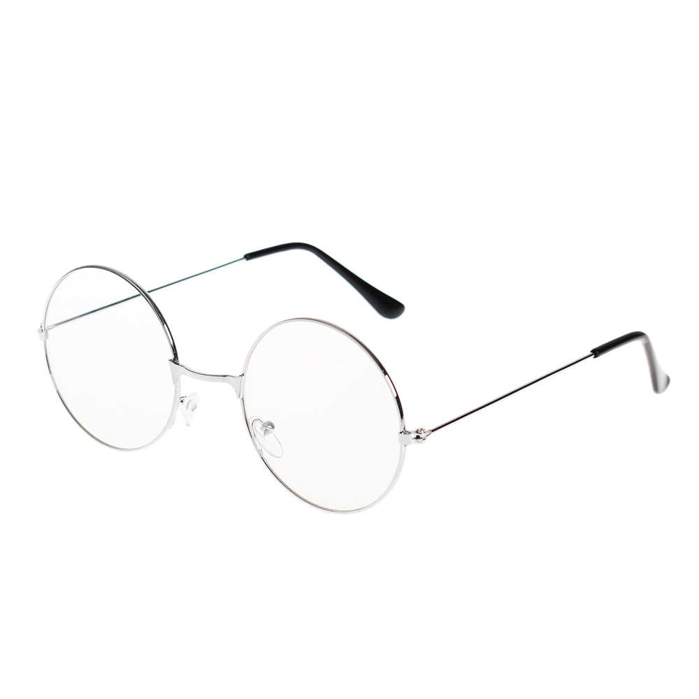 2655aab660 ... Fashion Vintage Retro Metal Frame Clear Lens Glasses Nerd Geek Eyewear  Eyeglasses Oversized Round Circle Eye ...
