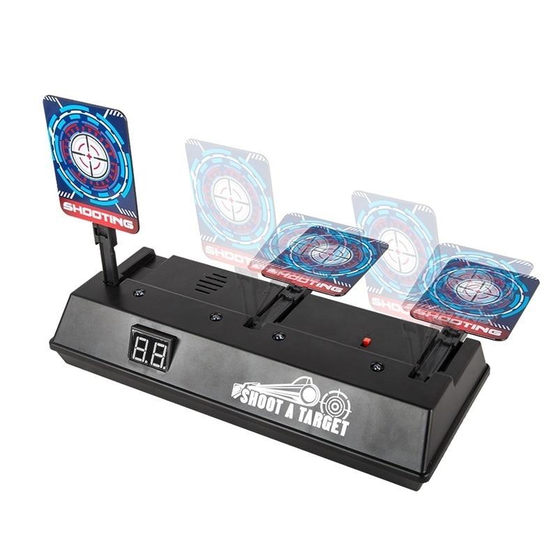 US $6 76 24% OFF Electronic Digital Target Auto Reset Intelligent Light  Sound Effect DIY Precision Scoring Targets For Nerf Blaster Gun Toy  TSLM1-in