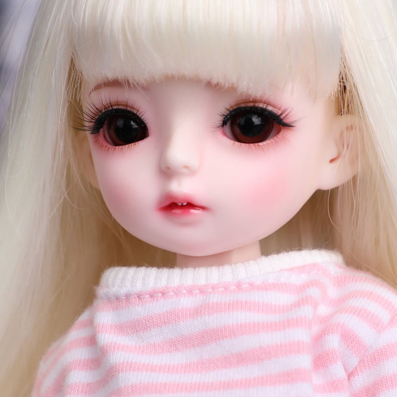Send eyeball 6 points bjd doll SD doll vanilla girl baby striped daily set joint dollSend eyeball 6 points bjd doll SD doll vanilla girl baby striped daily set joint doll