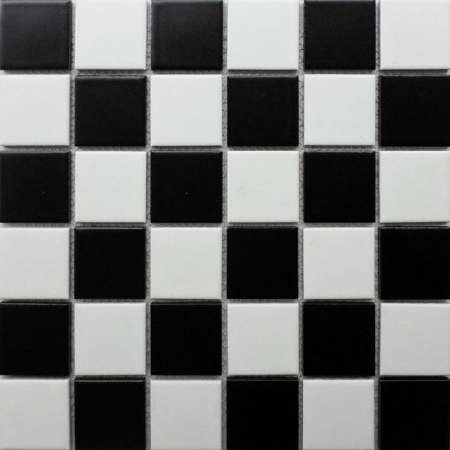Schwarz Weiß Keramik Mosaik Fliesen Küche Backsplash Fliesen - Mosaik fliesen für balkon