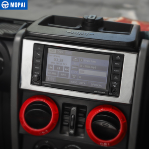 Image 4 - MOPAI רכב לוח מחוונים ניווט CD פנל מסגרת קישוט כיסוי מדבקות עבור ג יפ רנגלר JK 2007 2010 אביזרי רכב סטיילינג