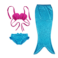 2017 new Girls Mermaid Tail Swimmable 3pcs Bikini Set 90-150cm Children Costume Princess Swimming Suit Monofin Models Optional