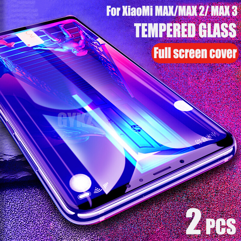 GYKZ Full Screen Tempered Glass For Xiaomi Mi Max 3 Anti Blu-ray Screen Protector Tempered Glass For Xiaomi Max 2 Glass Film