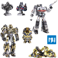 MU YM L066/YM L058 Auto man Robot toys 3D puzzle Metal assembly model jigsaw Home furnishing Collection of gifts