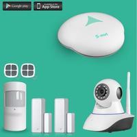 433MHZ GSM home burglar alarm GSM Alarm Systems work with IP cameras two way audio alarm self checking GSM alarm kit