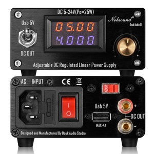 Image 2 - Nobsound 25W Adjustable DC Regulated Linear Power Supply With USB 5V and DC 5V 24V Output For Audio DAC/Digital Players