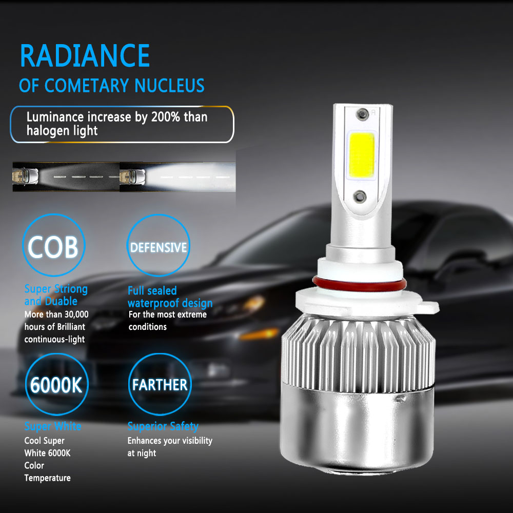 Image 5 - LSlight LED H7 H4 H11 H1 H3 H13 880 9004 9005 9006 9007 HB2 HB3 HB4 H27 LED Headlight Car Ice Light Lamp 6000K 12V 24V Auto Bulb-in Car Headlight Bulbs(LED) from Automobiles & Motorcycles