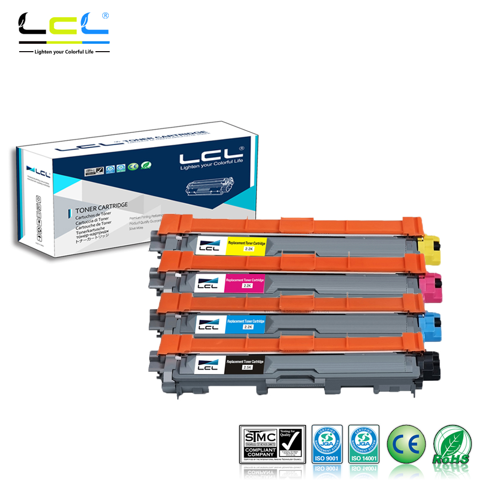 LCL TN225 TN221 TN245 TN241 TN-296 T-N291 (4-Pack KCMY) Toner Cartridge Compatible for Brother  HL-3140 CW/3150CDW/CDN/