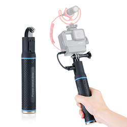 2 in 1 Battery Charger Power Bank Pack for Extend Stick Handle Grip for Osmo Pocket GoPro SJCAM EKEN Insta 360 Action Shots