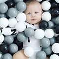 50Pcs Baby Antistress Play Ocean Balls Kid Safety  Black Grey White Soft Plastic Ball Pool Pit Toy Stress Ball Balloon Best Gift