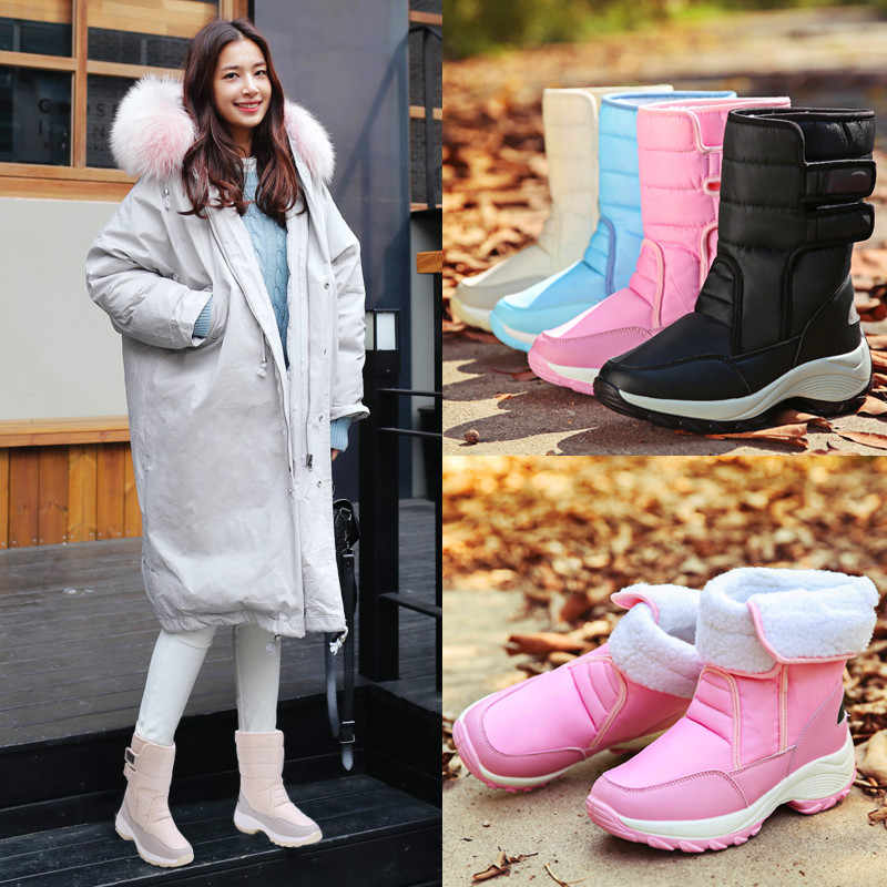 Winter boots women fashion snow boots