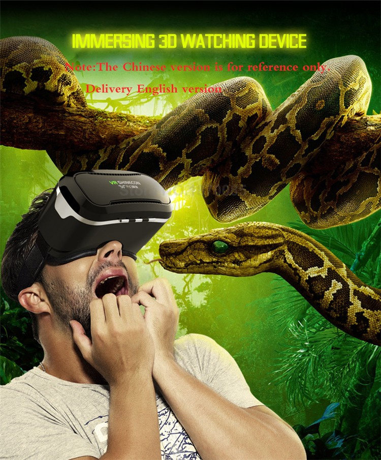 New VR Shinecon II 2.0 Helmet Cardboard Virtual Reality Glasses Mobile Phone 3D Video Movie for 4.7-6.0 Smartphone with Gamepad (1)