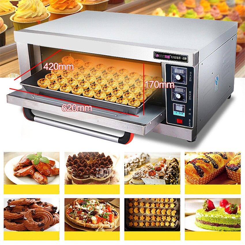 Nouveau numérique température contrôle cuisson four LC-ACL-10 Commercial four gâteau pain Pizza four grand four électrique 60L 220 V 3200 W