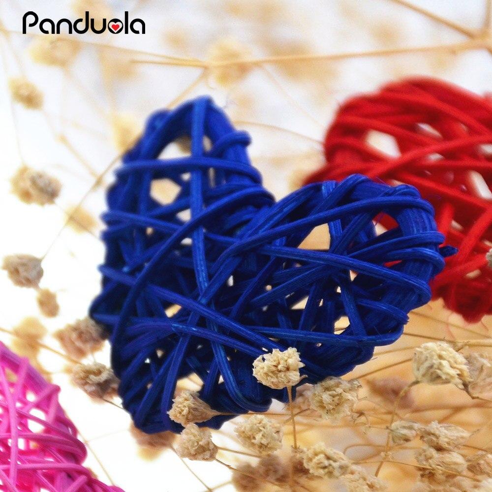 Lot de 20 Boules en Rotin Color/é D/écoratifs en Osier Balles pour D/écoration de Table de Mariage de No/ël D/écorations de F/ête Danniversaire Red