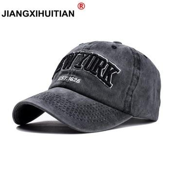 Baseball Cap mujeres hombres marca Snapback gorras para hombres camionero  puré algodón bordado Casquette letra NY casquillo del papá 8557052ac4a