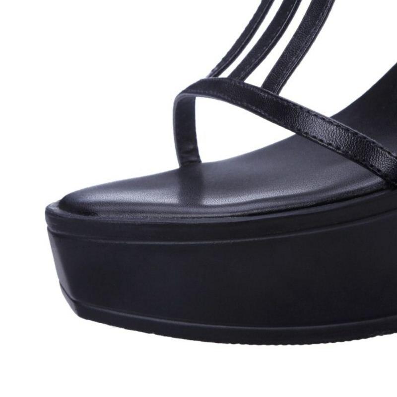 Noir 34 Hauts Femmes Véritable Gladiateur Cheville Taille Chaussures Vacances À En 39 Sangle blanc D'été Cuir Jojonunu Sandales Talons HFqgTpwZ0Z