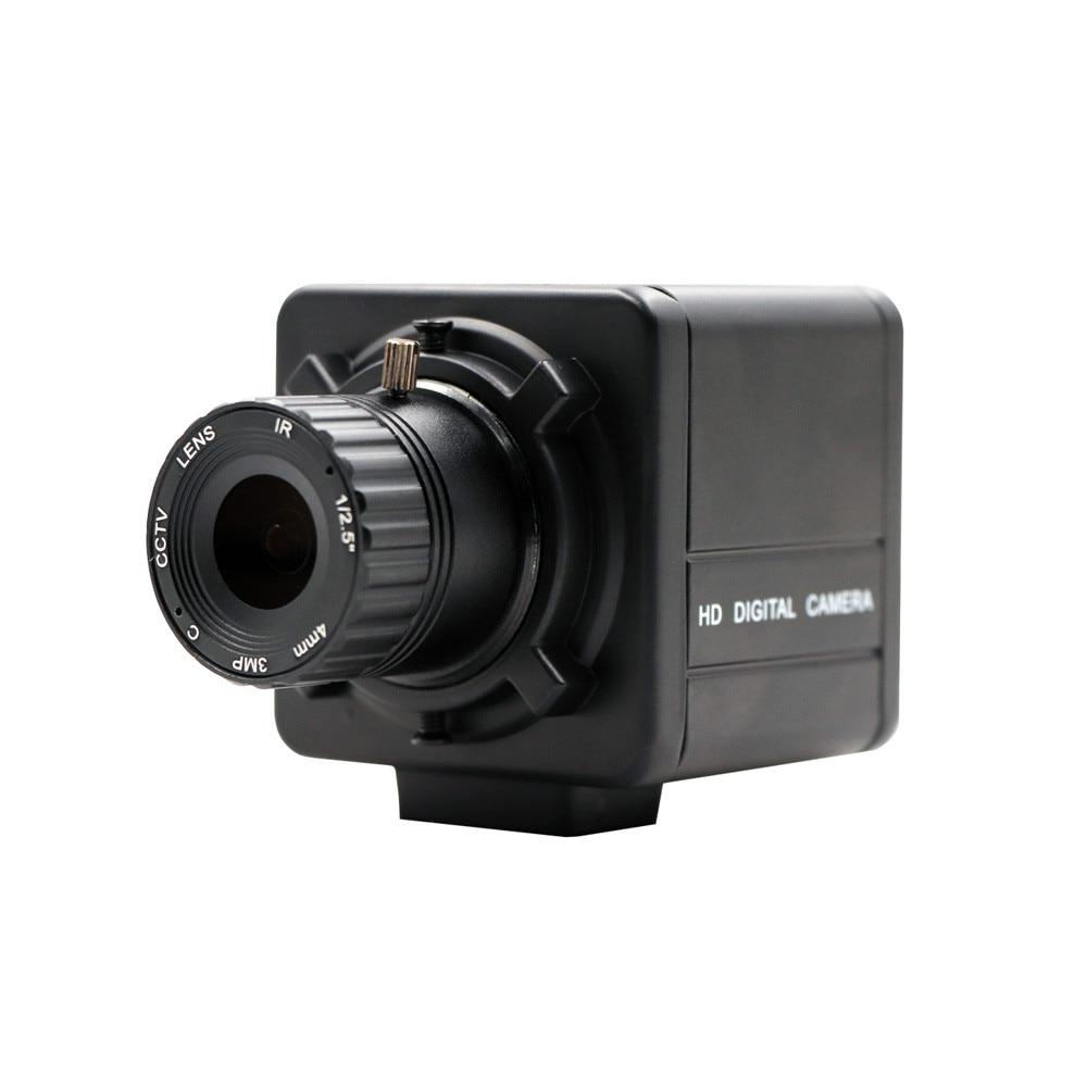 CS Mount Manual Focus 1.3MP HD 960P Aptina AR0130 Webcam OTG UVC Plug Play USB Camera with Mini Case