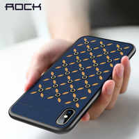 ROCK Slim Case for iPhone 2018,Cover PU Leather Phone Protect Case For iPhone 5.8 6.1 6.5 Coque Full Protective Phone Shell Back