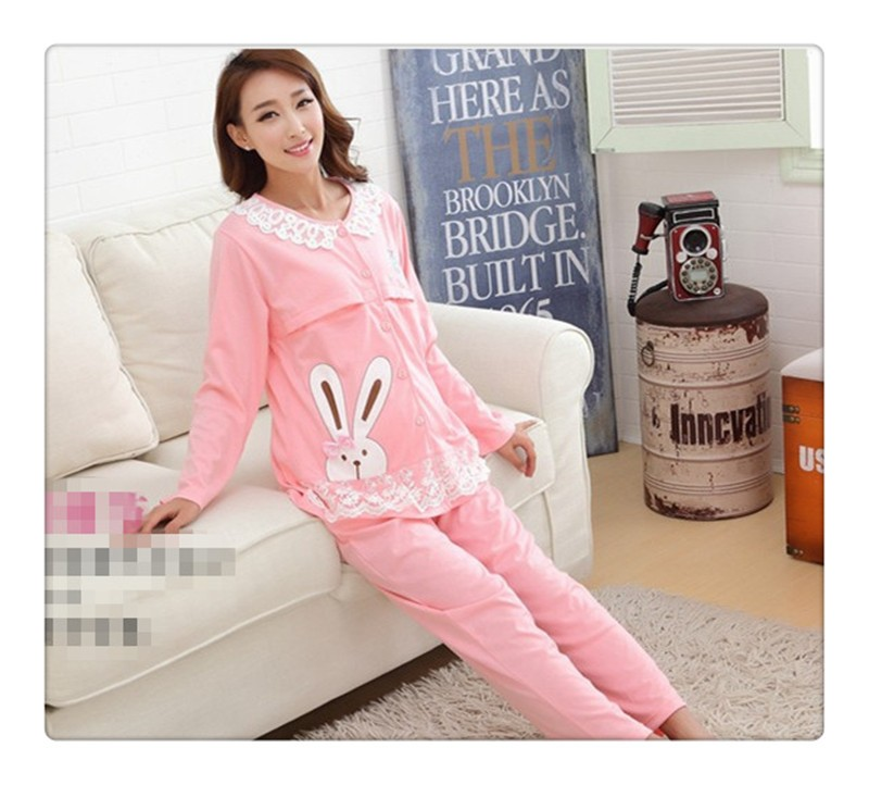 Bearsland Cotton Maternity Nursing Pajama (2)