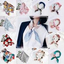 Korea 1PC cute animal square retro silk satin cartoon printing lady new best selling headdress fashion scarf bag decoration