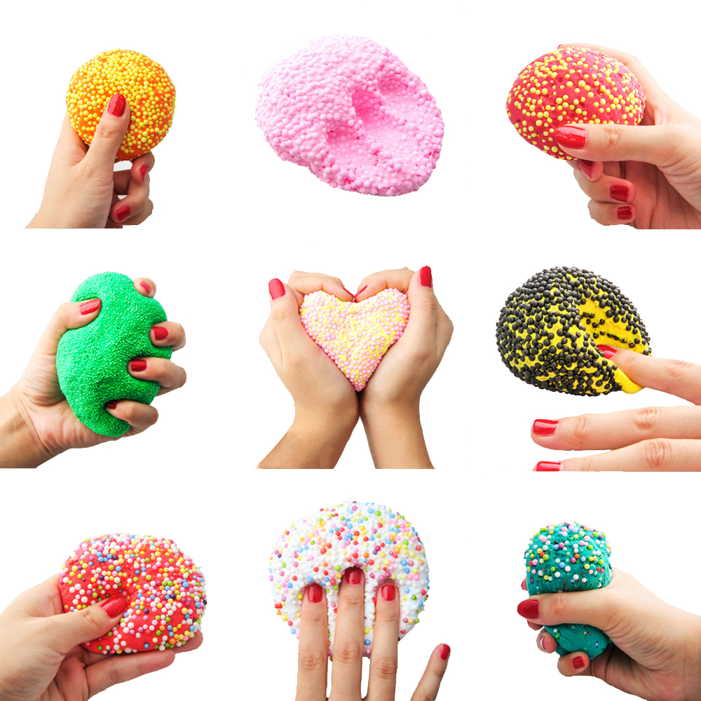 30g Snow Mud Fluffy Foam Slime Clay Ball Supplies DIY Light Soft Cotton Charms Slime Scented Stress Toys For Children Arts Craft