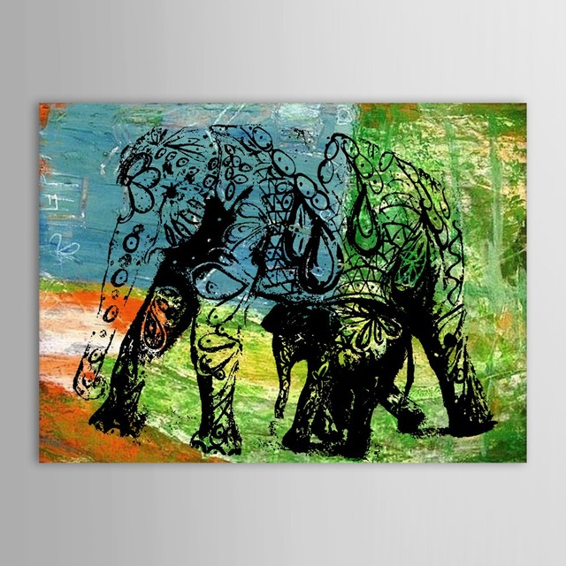 Us 20 0 Hand Painted Oil Painting Animal Abstract Elephant Wall Picture Wall Art Paintings For Hotel In Painting Calligraphy From Home Garden On