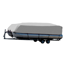 "600D PU Coated  Heavy Duty TrailerablePontoon Boat Cover,17'-20'X96"",High Quality Waterproof Boat  Cover ,With 10 Traps"