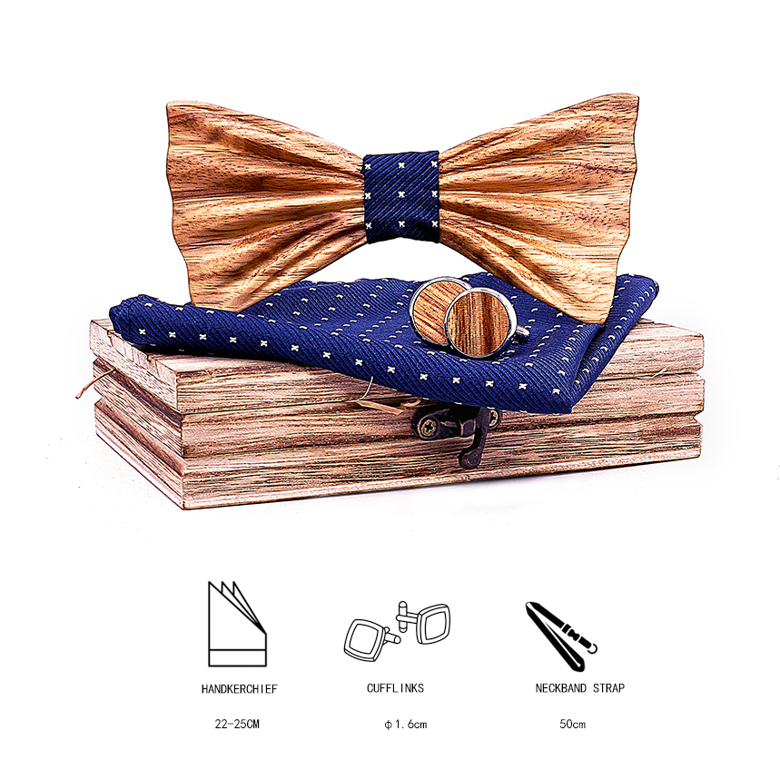 IOLPR Wood Handmade 3D Wooden Bow Ties for Men Quality men Wood Bow Handmade Butterfly tie gifts for men ties for men Adult