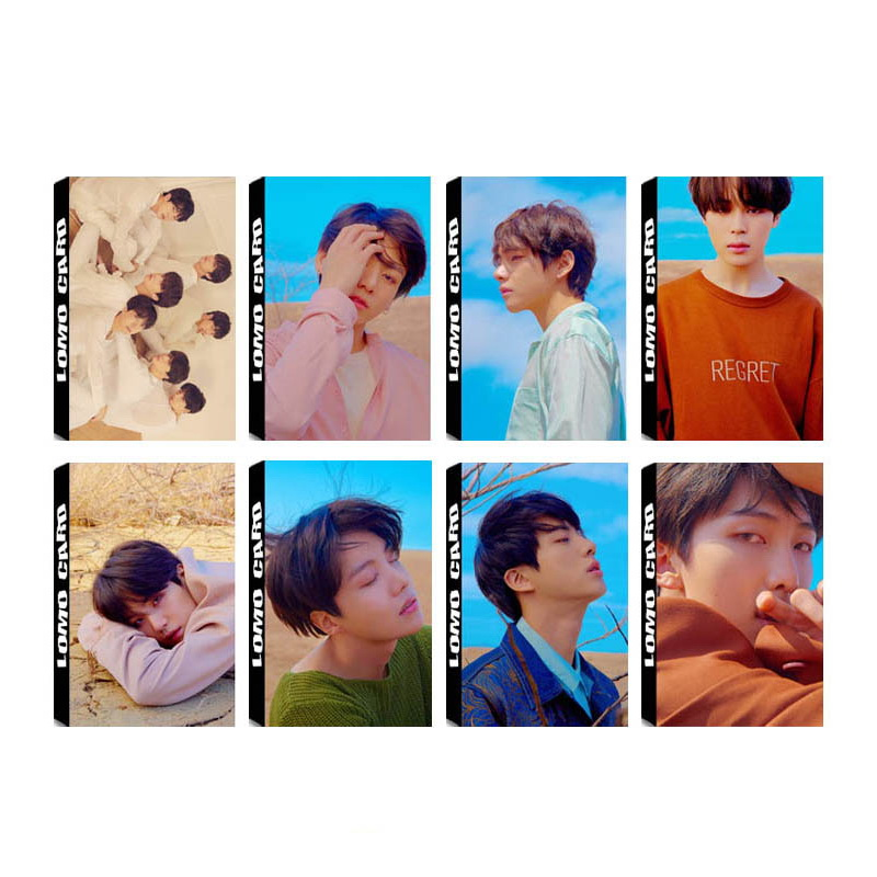KPOP BTS Bangtan Boys LOVE YOURSELF Tear Album Self Made Paper Lomo Card Photo Card Poster HD Photocard yanzixg kpop bts bangtan boys album suga self made paper lomo card photo card poster hd photocard fans gift collection