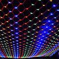 Luz da corda de fadas 1.5x1.5 m 96 leds 8 modos de flash 220 v ao ar livre net led string luz para o festival decoração de casamento de natal