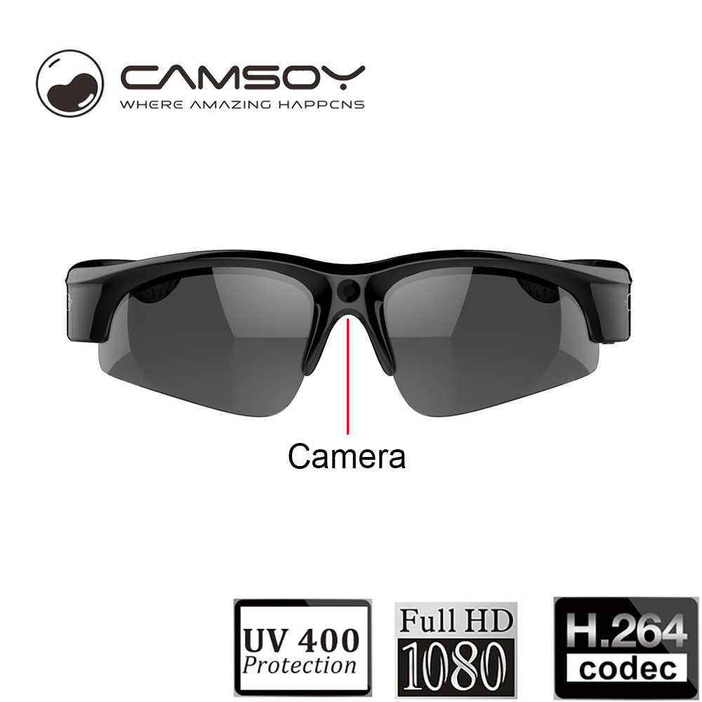 9c780d82aaae Full HD 1080P Sunglasses Camera Wide Angle 140 Degree Mini DV DVR Digital  Video Camera Daily