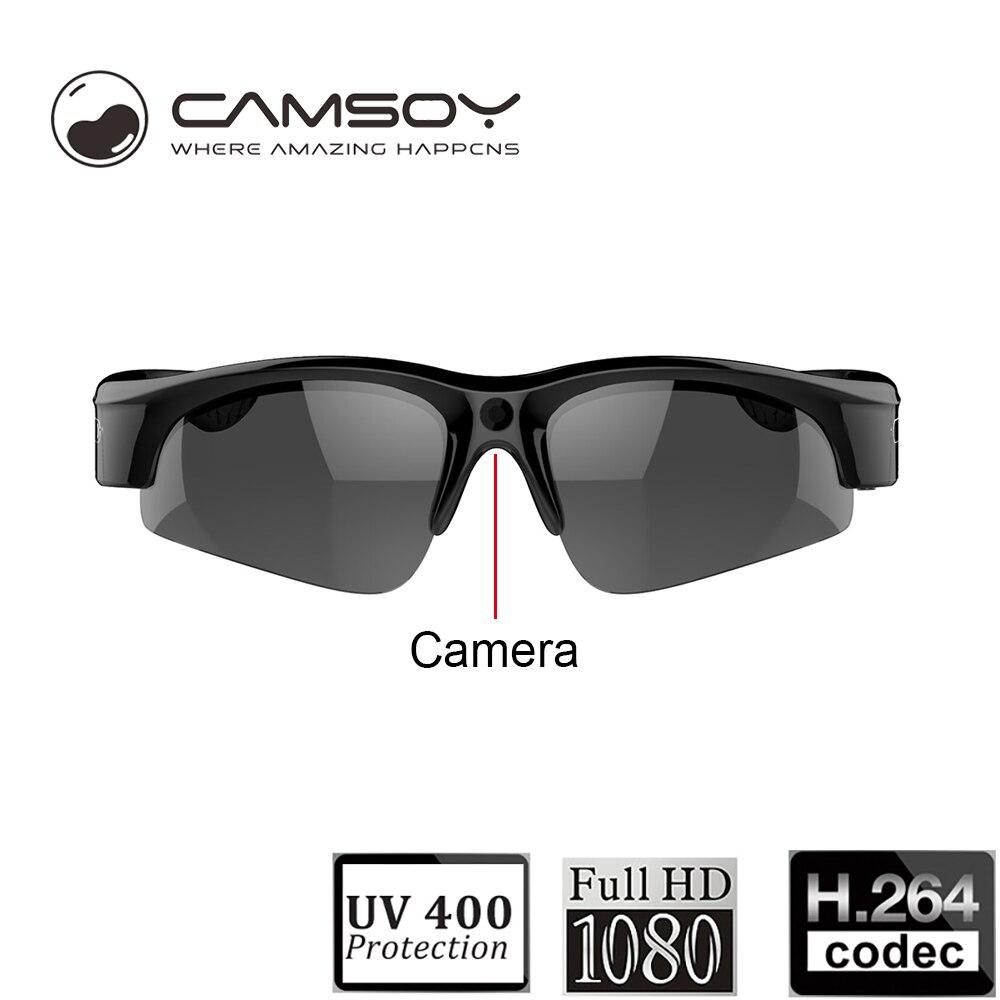 Full HD 1080P Sunglasses Camera Wide Angle 140 Degree Mini DV DVR Digital Video Camera Daily Waterproof Glasses Camera Mini Cam цена