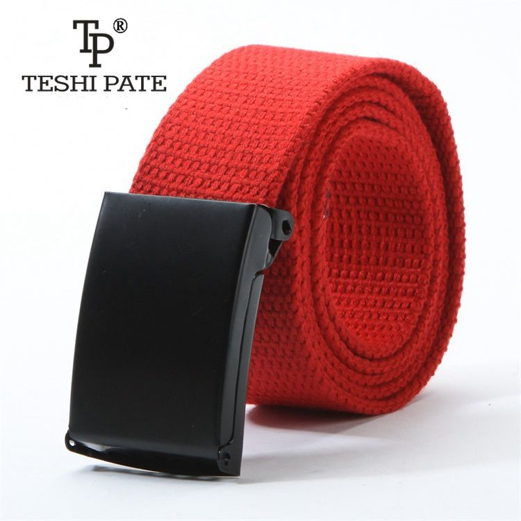 fashionable   The new    color   Both men and women   belts   Plain canvas belt   Men's belt