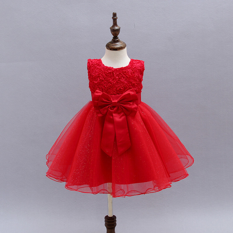 купить 2016Wedding Gowns Kids Formal Party Christening Communion Flower Girl Dresses Infant Pageant Dresses for Little Girls 80-130cm дешево